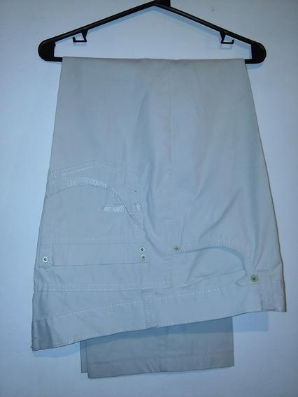 Pantalon De Gabardina Taverniti T38 Marron / Crema