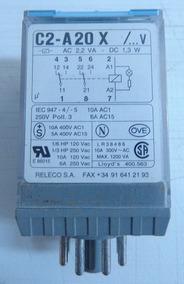 Rele Octal Releco, 2 Cont. Rev.10 Amp., Ref. C2-a20x/115 Vac