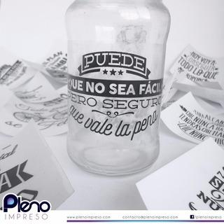 Vinilos Para Frascos Frases 10x10 En Mercado Libre Argentina