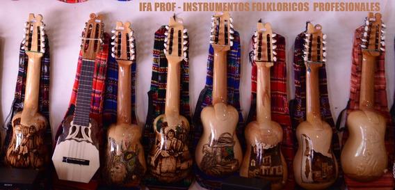Charango Profesional De Madera Tallado De Luthier + Funda