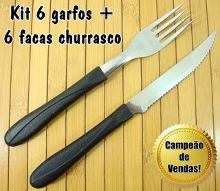 Kit Talheres Aço Inox 6 Garfos + 6 Facas De Mesa Simonaggio