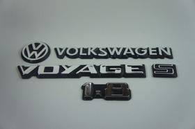 Kit Emblema Volkswagen Voyage Vw Mala S 1.8 83 À 90 Brinde