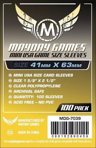 Imagem 1 de 3 de Mayday Mini Usa 100 Card Sleeves - 41mmx63mm