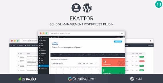 Wordpress Plugin Ekattor School Manager Wordpress 2016
