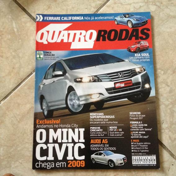Revista Quatro Rodas 585 Dez2008 Mini Civic Porsche 911