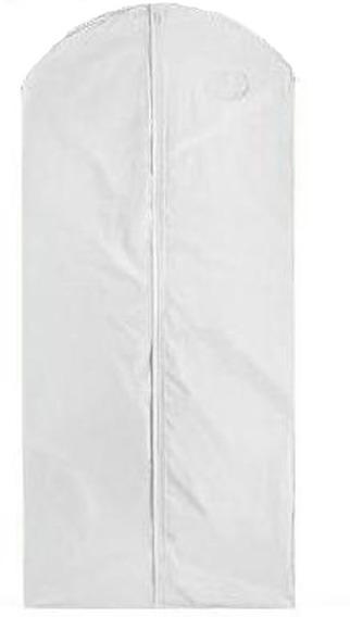 Paquete De 50 Porta Abrigos De Vinil Blanco De 60 X 137 Cm
