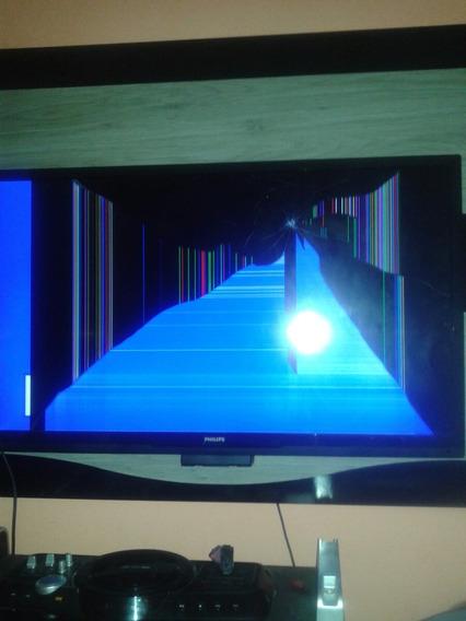 Tv Led Pfl3707d 42 Polegadas Com Defeito Na Tela.