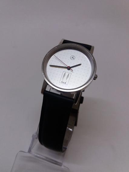 Relógio Mercedes Benz Modelo S L K Com Pulseira Em Couro