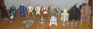 Star Wars 18 Personajes Y 1 Nave. Juguete O Colección.