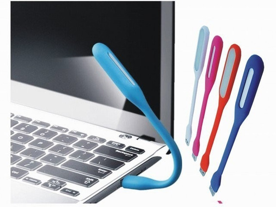 10 Luz Led Luminaria Flexível Usb Notebook Pc Várias Cores