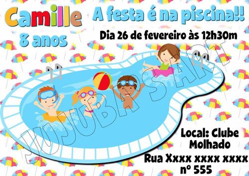Imagem 1 de 4 de Arte Digital Convite Festa Na Piscina Pool Party