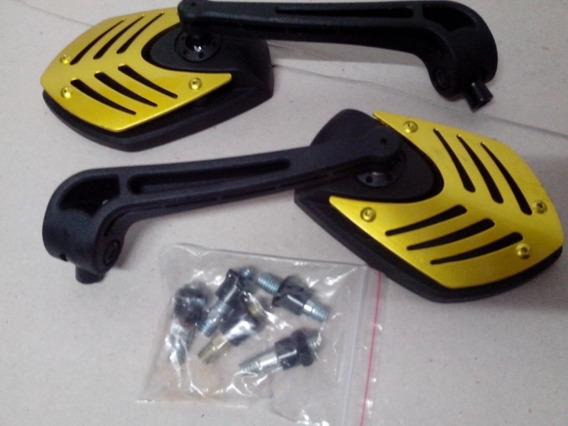 Retrovisor Moto Nylon Hon/yamuniversal Batman Ouro (10 Pares
