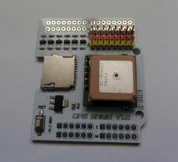 Gps Shield Fastrax Up501 Para Arduino Com Leitor Mini Sdcard