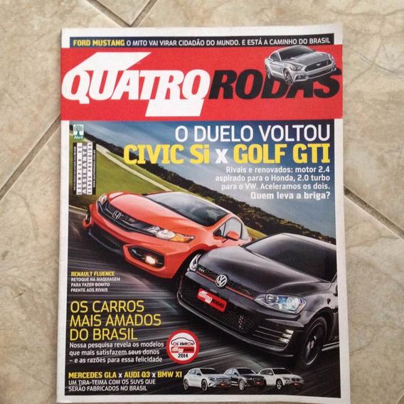Revista Quatro Rodas Ed 662 Out2014 Civic Si X Golf Gti