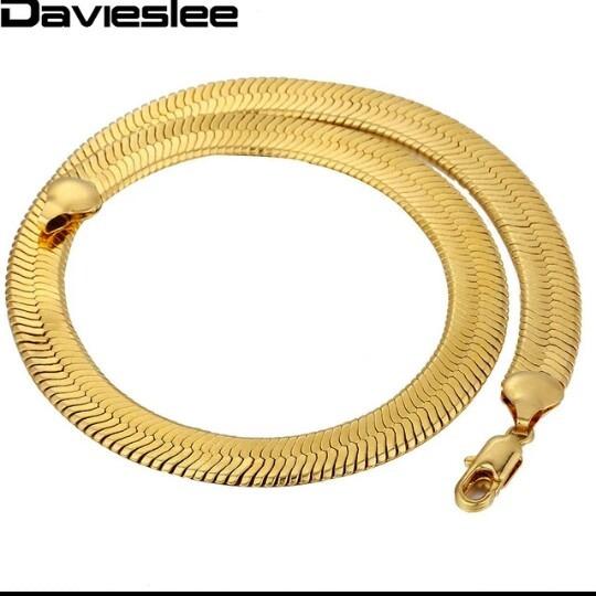 Pulseira Serpente 10 Mm Folheada Em Ouro 18k Com Garantia