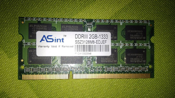 Memoria Ram Ddr3 2gb 1333 Para Notebook