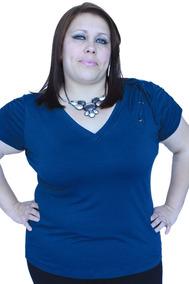 Blusa Pluz Size Com Ilhões De Detalhe,varias Cores.3003kle