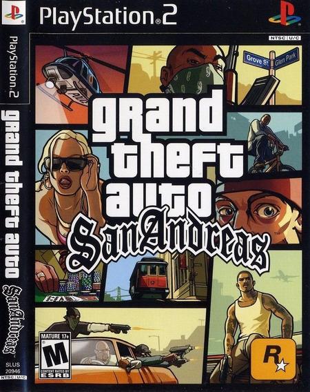 Gta San Andreas Ps2 - Dvd Legendado Pt Br - Playstation 2