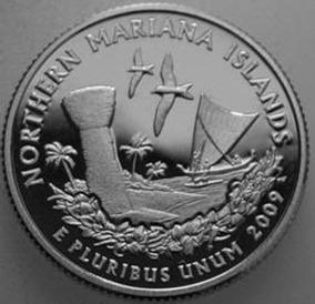 Eua - 25 Cents 2009 Mariana Islands Letra P (fc)