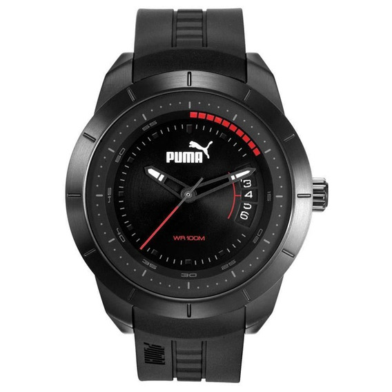 Relógio Masculino Puma 96279gppspu1 48mm Preto