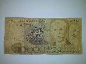 Cédula Nota Carimbada 10 Cruzados Original - Colecione