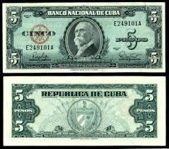 Cuba 5 Pesos 1960 P. 92 Fe Cédula - Tchequito