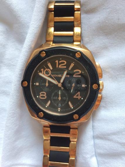 Relógio Mk Original Rosê E Preto