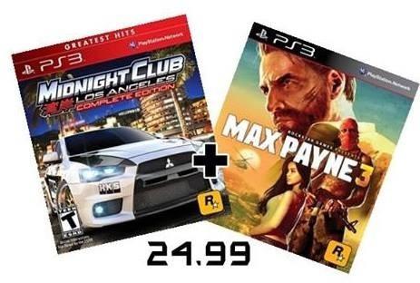 Max Payne 3 + Midnight Club Los Angeles Ps3 (psn)