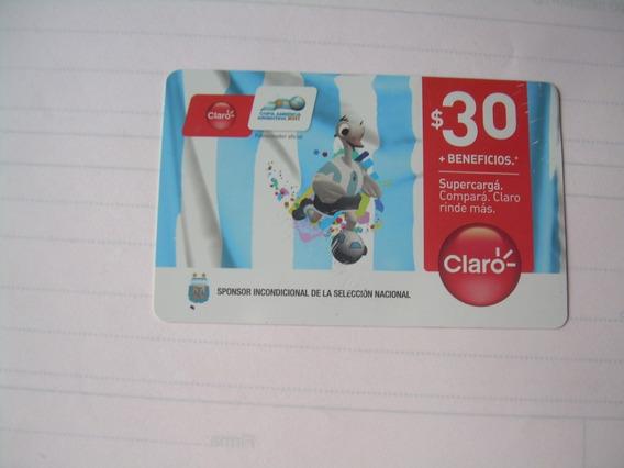 Tarjeta Claro Copa America 2011 Usada