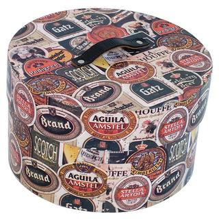 Caixa Térmica Redonda Para Latas Rotulos Beer