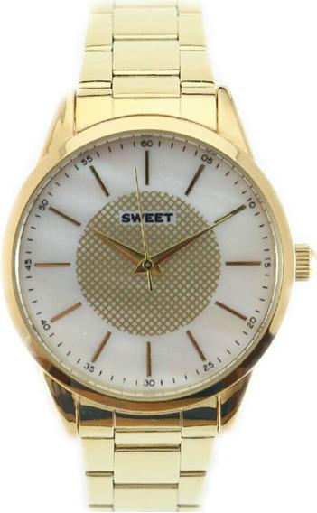 Reloj Sweet 7110g Acero Madre Perla Garantía12m Tienda Ofici