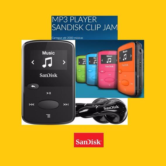 Mp3 Player Sandisk Clip Jam Sdmx26-008g 8gb Fm Original