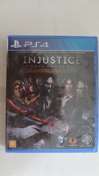 Injustice - Gods Among Us - Ultimate Edit Ps4 Novo E Lacrado