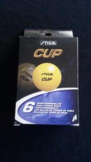 Pelota De Pin Pon Stiga Modelo Cup - 6 Unidades