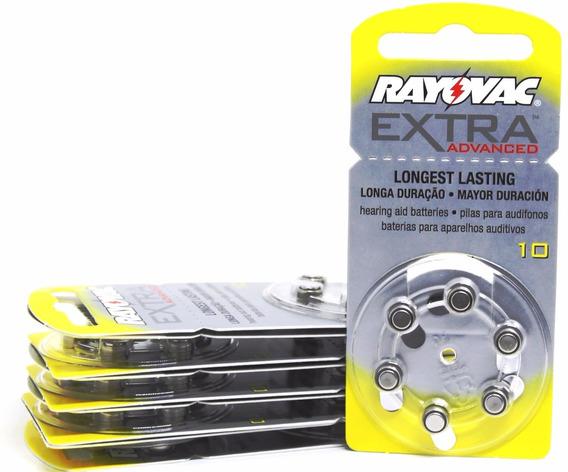 60 Baterias Pilhas Aparelho Auditivo 10 / Pr70 - Rayovac