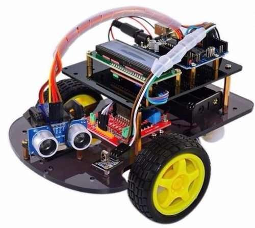 Auto A Control Remoto Ultrasonico Kit Robot Arduino Diy Rc