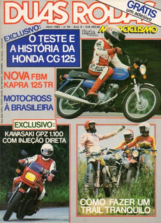 Duas Rodas N°94 Honda Cg 125 Kawasaki Gpz 1100 Fbm Kapra Tr