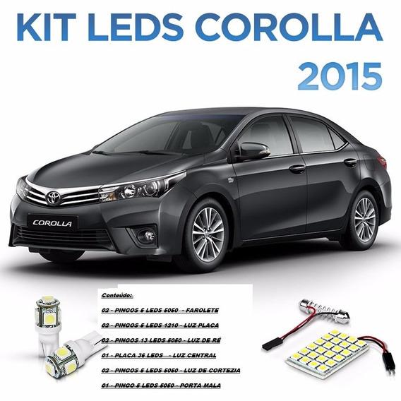 Kit De Led Corolla Placa Quebra-sol Lanterna Frente Ré