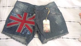 Short Jeans Bordado Novo M/ 42