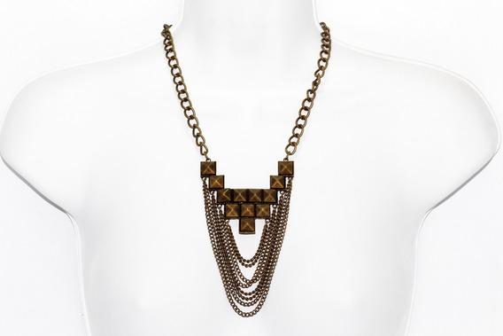 Collar Largo Moda Cadenas Estilo Egipcio Oro Viejo Cc97