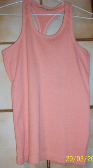 Remera Musculosa Rosa. Talle 2 - Medium. (marca De La Ostia)