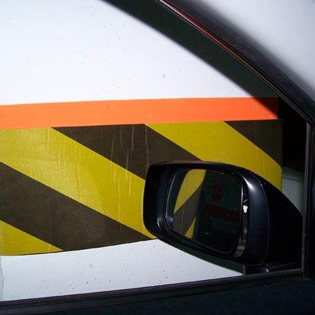 Protector Garage Estacionamiento Negro Amarillo Chico Pegar