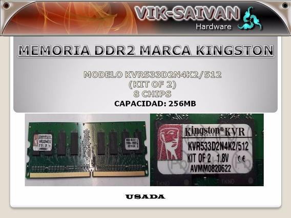 Memoria Ddr2 Kingston De 256mb Pc2-4200 533mhz 8 Chips 18