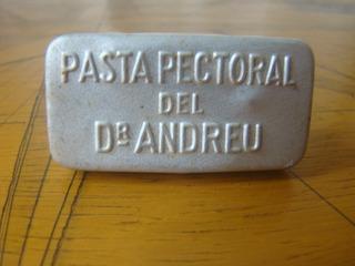 Lata Antiga Pasta Pectoral Del Dr Andreu, Catalã,