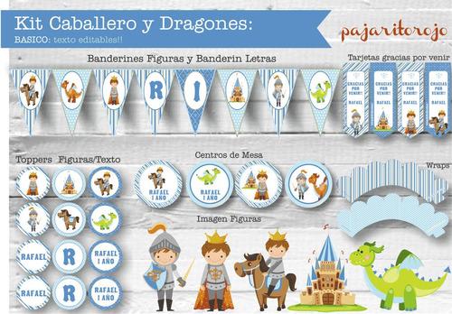 Kit Caballeros Y Dragones
