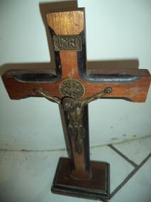 Antigo Crucifixo Em Madeira/artigo Religioso Antigo/jesus