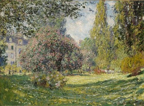 Gravura Poster Monet 60cmx80cm Obra The Parc Monceau