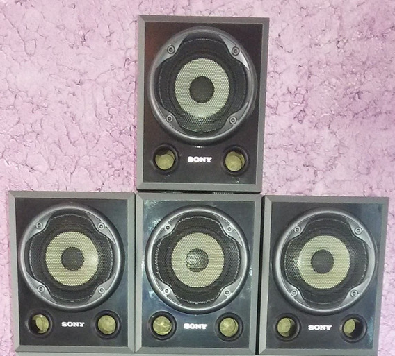 Kit 4 Caixas Acusticas Home Theater Sony 140w Rms