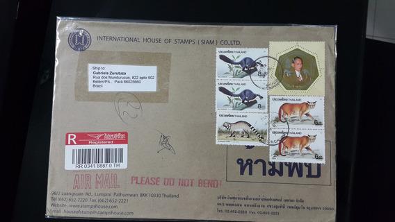 C001 Thailândia.evelope Circulado+registro. Fauna/felinos