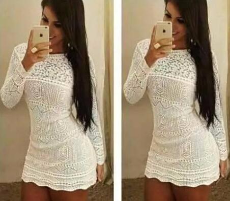 Lindos Vestidos De Tricot Crochet Com Forro.